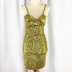 Dress the Population Brenda Metallic Dress